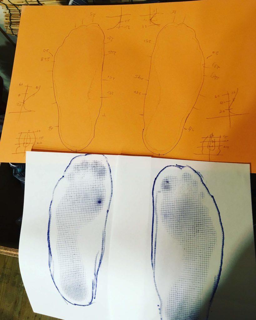 革靴作り採寸